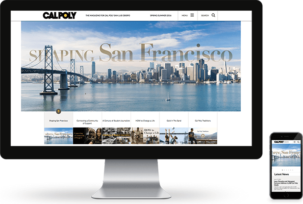 Cal Poly Magazine Website