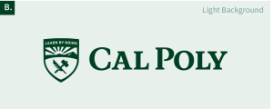 The Cal Poly logo on a light background