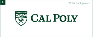 The Cal Poly logo on a white background