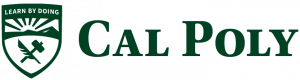 An example of the Cal Poly logo inappropriately created using an existing typeface