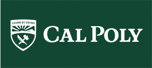 An example of the Cal Poly logo inappropriately coverted to white