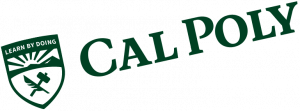 An example of the Cal Poly logo inappropriately tilted